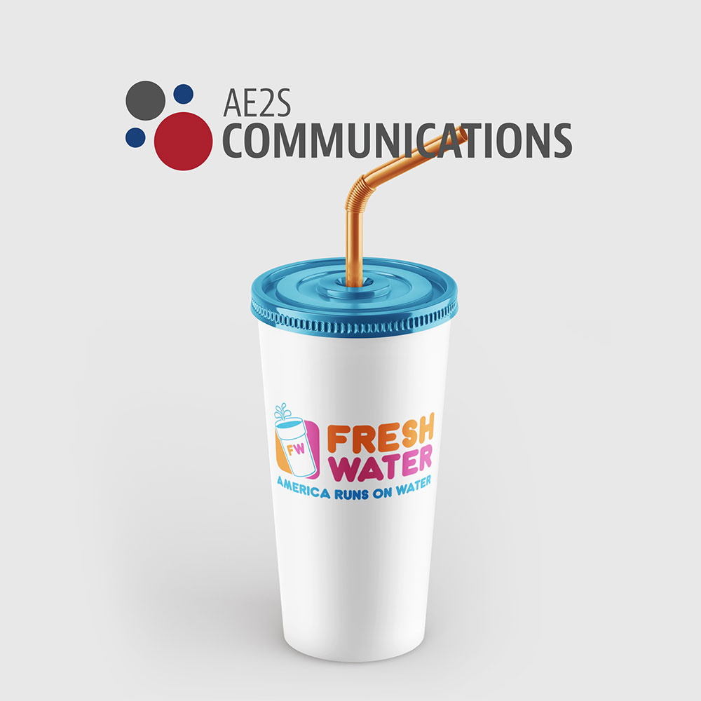 fresh water logo on a cup