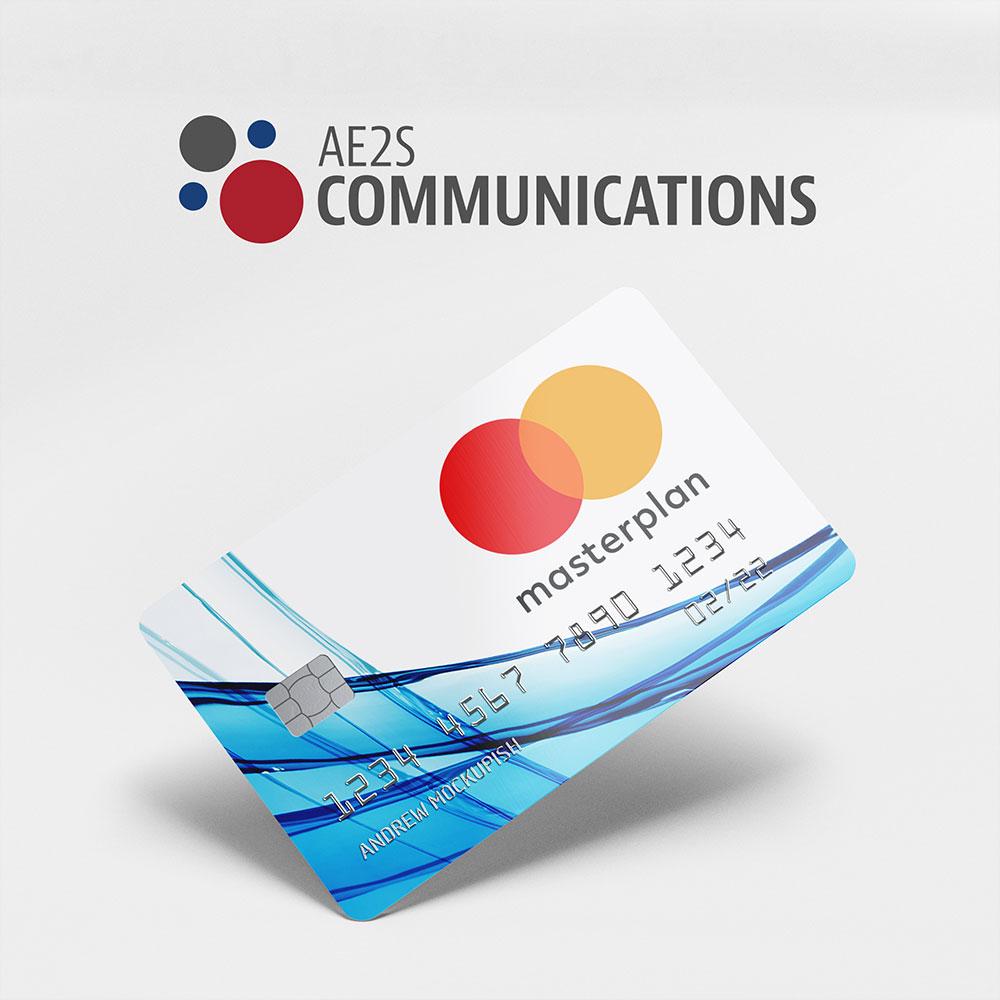 master plan logo on a credit card